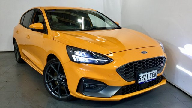 Demo Ford Focus SA 2020.25MY ST Elizabeth, 2020 Ford Focus SA 2020.25MY ST Orange Fury 6 Speed Manual Hatchback