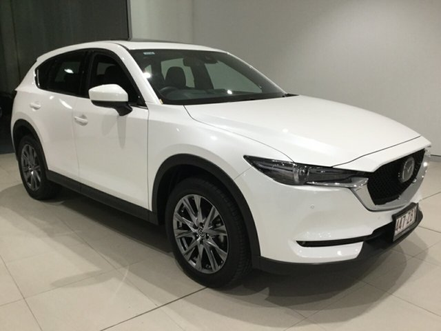 Used Mazda CX-5 KF4WLA Akera SKYACTIV-Drive i-ACTIV AWD, 2019 Mazda CX-5 KF4WLA Akera SKYACTIV-Drive i-ACTIV AWD Snowflake White 6 Speed Sports Automatic