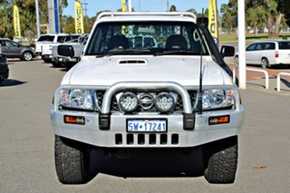 2008 Nissan Patrol GU 6 MY08 DX White 5 Speed Manual Cab Chassis.