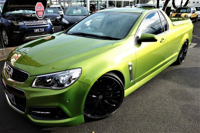 Used Holden Ute VF MY15 SS Ute Storm, 2015 Holden Ute VF MY15 SS Ute Storm Green 6 Speed Sports Automatic Utility