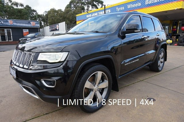 Used Jeep Grand Cherokee WK MY15 Limited, 2015 Jeep Grand Cherokee WK MY15 Limited Brilliant Black 8 Speed Sports Automatic Wagon