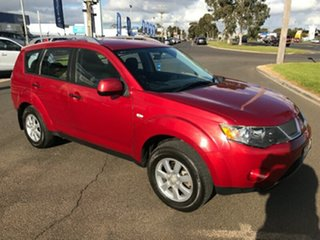 2007 Mitsubishi Outlander ZG MY07 LS Red 6 Speed Constant Variable Wagon.