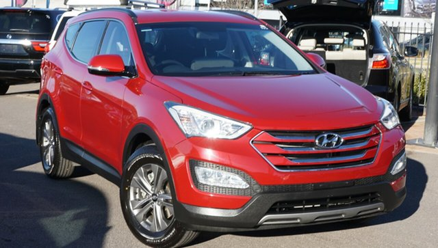 Used Hyundai Santa Fe DM2 MY15 Active, 2014 Hyundai Santa Fe DM2 MY15 Active Red 6 Speed Sports Automatic Wagon