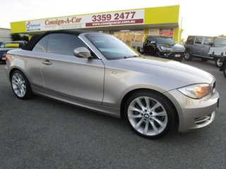2009 BMW 1 Series E88 MY10 123d Steptronic Silver 6 Speed Sports Automatic Convertible.