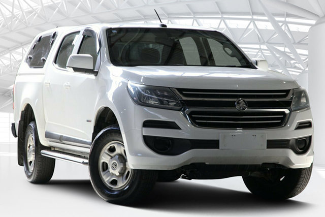 Used Holden Colorado RG MY16 LS (4x2), 2016 Holden Colorado RG MY16 LS (4x2) Summit White 6 Speed Automatic Crew Cab Pickup