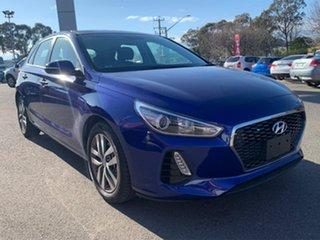 2019 Hyundai i30 Active Blue Sports Automatic Hatchback.
