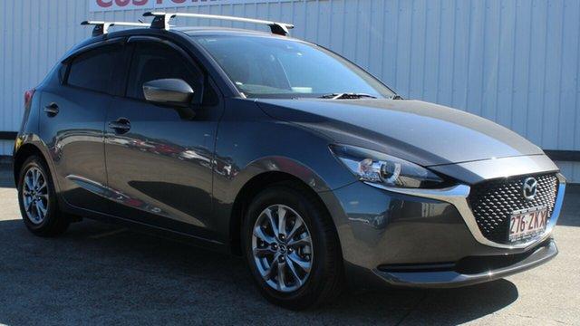 Used Mazda 2 DJ2HAA G15 SKYACTIV-Drive Pure, 2019 Mazda 2 DJ2HAA G15 SKYACTIV-Drive Pure Grey 6 Speed Sports Automatic Hatchback