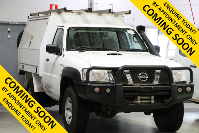 Used Nissan Patrol MY14 DX (4x4), 2016 Nissan Patrol MY14 DX (4x4) White 5 Speed Manual Leaf Cab Chassis