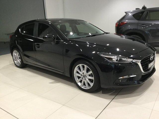 Used Mazda 3 BN5438 SP25 SKYACTIV-Drive GT, 2018 Mazda 3 BN5438 SP25 SKYACTIV-Drive GT Black 6 Speed Sports Automatic Hatchback
