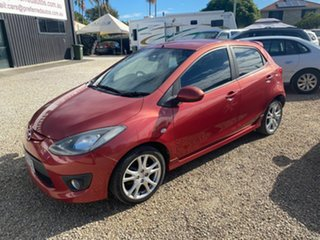 2007 Mazda 2 DE Genki Red 5 Speed Manual Hatchback.