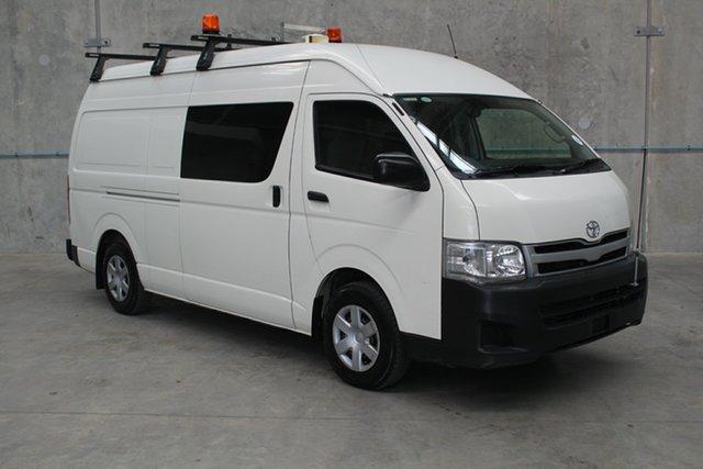 Used Toyota HiAce KDH221R MY12 Super LWB, 2013 Toyota HiAce KDH221R MY12 Super LWB White 5 speed Manual Van