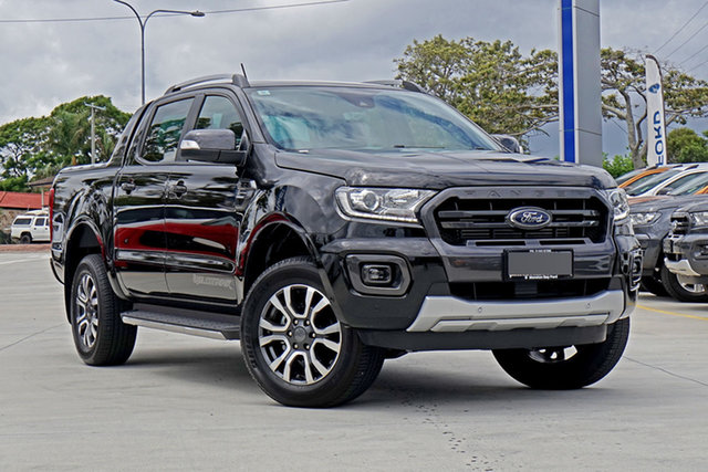 Used Ford Ranger PX MkIII 2019.75MY Wildtrak Pick-up Double Cab, 2019 Ford Ranger PX MkIII 2019.75MY Wildtrak Pick-up Double Cab Shadow Black 10 Speed