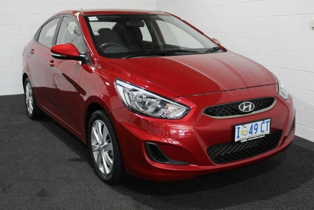 Used Hyundai Accent RB6 MY19 Sport, 2019 Hyundai Accent RB6 MY19 Sport Pulse Red 6 Speed Manual Sedan
