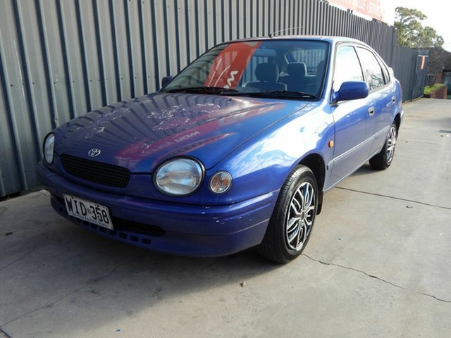 Used Toyota Corolla AE112R Conquest, 1999 Toyota Corolla AE112R Conquest Blue 4 Speed Automatic Liftback