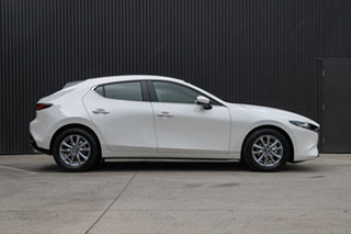 2020 Mazda 3 BP2H7A G20 SKYACTIV-Drive Pure Snowflake White Pearl 6 Speed Sports Automatic Hatchback.