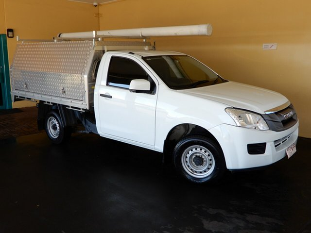 Used Isuzu D-MAX TF MY15.5 SX (4x2), 2016 Isuzu D-MAX TF MY15.5 SX (4x2) White 5 Speed Manual Cab Chassis