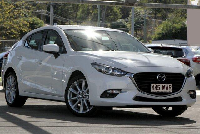 Used Mazda 3 BN5438 SP25 SKYACTIV-Drive, 2016 Mazda 3 BN5438 SP25 SKYACTIV-Drive White 6 Speed Sports Automatic Hatchback