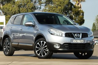 2012 Nissan Dualis J10W Series 3 MY12 Ti-L Hatch X-tronic 2WD Silver 6 Speed Constant Variable.