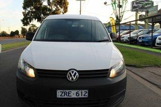 2013 Volkswagen Caddy 2KN MY14 TSI160 SWB White 5 Speed Manual Van.