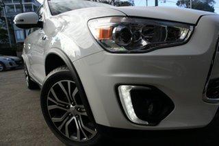 2015 Mitsubishi ASX XB MY15 XLS (2WD) White Continuous Variable Wagon.
