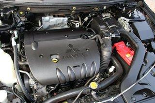 2009 Mitsubishi Lancer CJ MY10 ES Black 6 Speed CVT Auto Sequential Sedan