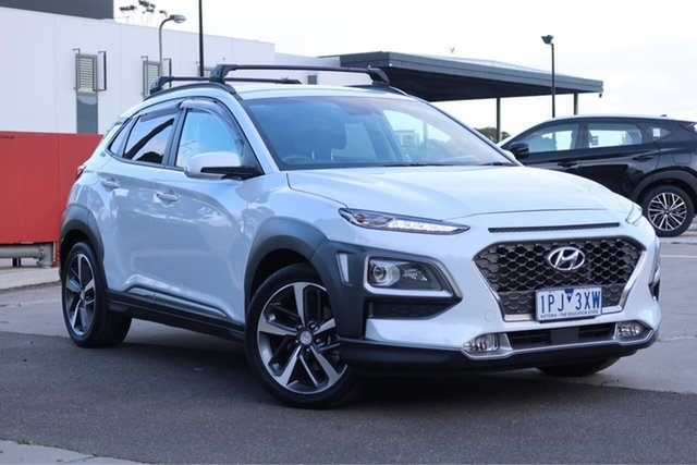 Used Hyundai Kona OS.2 MY19 Highlander D-CT AWD, 2019 Hyundai Kona OS.2 MY19 Highlander D-CT AWD Chalk White 7 Speed Sports Automatic Dual Clutch