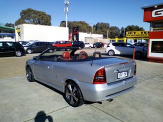 2004 Holden Astra TS MY03 Linea Rossa Silver 5 Speed Manual Convertible.