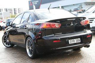 2009 Mitsubishi Lancer CJ MY10 ES Black 6 Speed CVT Auto Sequential Sedan.