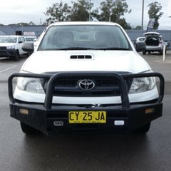 2009 Toyota Hilux KUN16R MY09 SR 4x2 White 5 Speed Manual Utility.