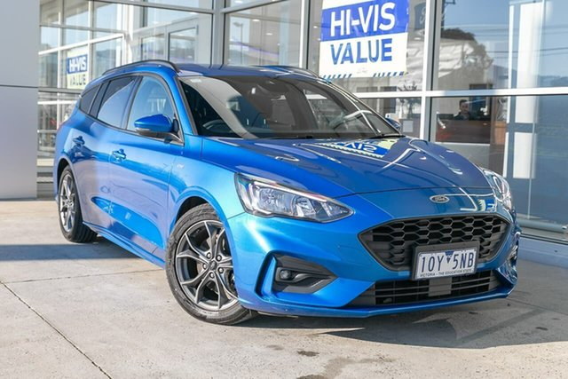 Used Ford Focus SA 2019.25MY ST-Line, 2019 Ford Focus SA 2019.25MY ST-Line Blue 8 Speed Automatic Wagon