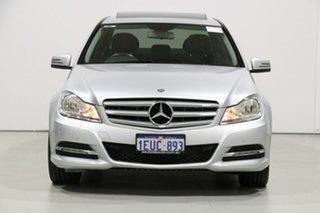 2013 Mercedes-Benz C200 W204 MY12 BE Silver 7 Speed Automatic G-Tronic Sedan.