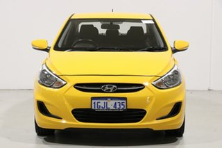 2017 Hyundai Accent RB5 Sport Yellow 6 Speed Automatic Sedan.