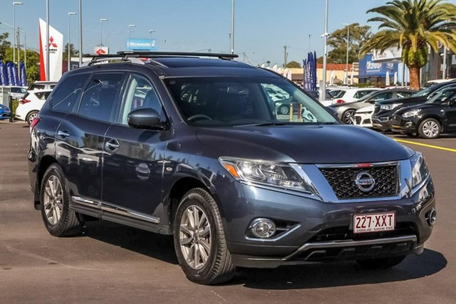 Used Nissan Pathfinder R52 MY15 ST-L X-tronic 2WD, 2014 Nissan Pathfinder R52 MY15 ST-L X-tronic 2WD Blue 1 Speed Constant Variable Wagon