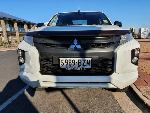 Used Mitsubishi Triton MR MY19 GLS Double Cab, 2019 Mitsubishi Triton MR MY19 GLS Double Cab White 6 Speed Sports Automatic Utility