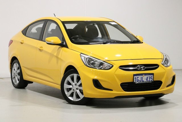 Used Hyundai Accent RB5 Sport, 2017 Hyundai Accent RB5 Sport Yellow 6 Speed Automatic Sedan