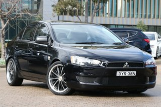 2009 Mitsubishi Lancer CJ MY10 ES Black 6 Speed CVT Auto Sequential Sedan