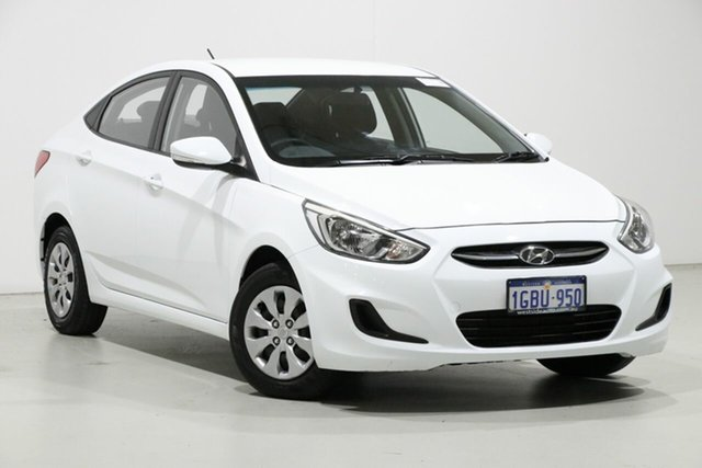 Demo Hyundai Accent RB3 MY16 Active, 2016 Hyundai Accent RB3 MY16 Active White 6 Speed CVT Auto Sequential Sedan