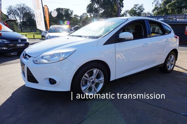 Used Ford Focus LW MkII Trend PwrShift, 2013 Ford Focus LW MkII Trend PwrShift Frozen White 6 Speed Sports Automatic Dual Clutch Hatchback