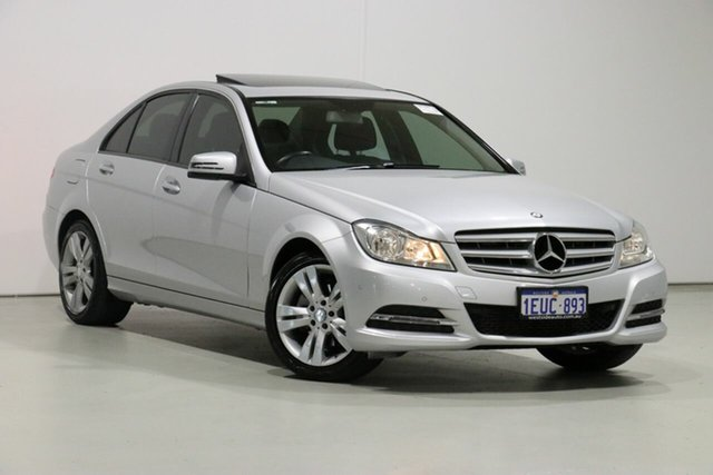 Used Mercedes-Benz C200 W204 MY12 BE, 2013 Mercedes-Benz C200 W204 MY12 BE Silver 7 Speed Automatic G-Tronic Sedan