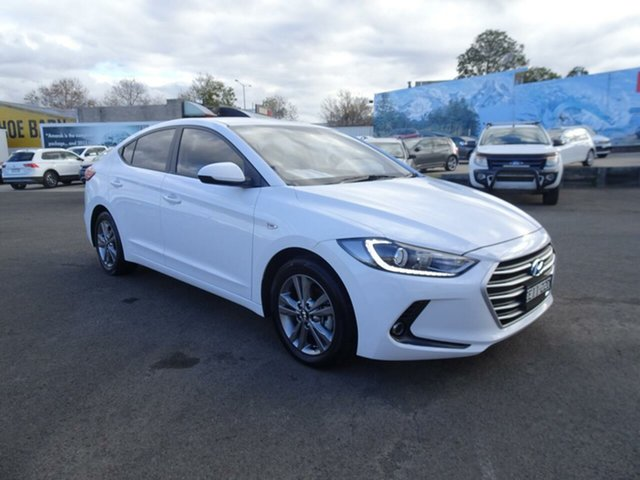 Used Hyundai Elantra AD MY18 Active, 2017 Hyundai Elantra AD MY18 Active White 6 Speed Sports Automatic Sedan