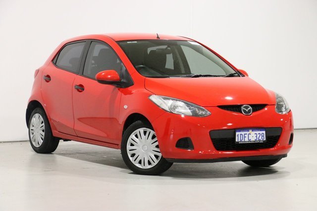 Demo Mazda 2 DE Neo, 2009 Mazda 2 DE Neo Red 5 Speed Manual Hatchback