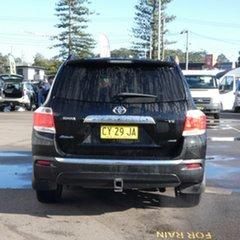 2013 Toyota Kluger GSU45R MY12 KX-R AWD Black 5 Speed Sports Automatic Wagon
