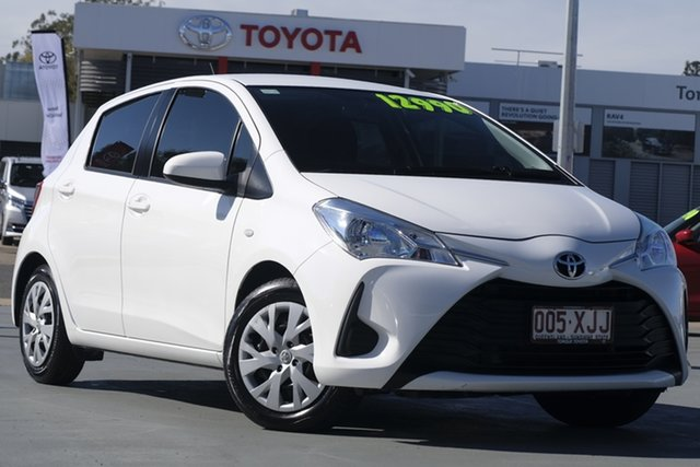 Used Toyota Yaris NCP130R Ascent, 2017 Toyota Yaris NCP130R Ascent Glacier White 4 Speed Automatic Hatchback
