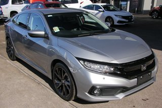 2020 Honda Civic 10th Gen MY20 RS Lunar Silver 1 Speed Constant Variable Sedan.