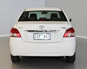 2013 Toyota Yaris NCP93R YRS White 4 Speed Automatic Sedan