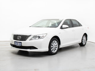 2013 Toyota Aurion GSV50R AT-X White 6 Speed Automatic Sedan.