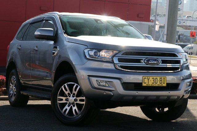 Used Ford Everest UA Trend RWD, 2016 Ford Everest UA Trend RWD Silver 6 Speed Sports Automatic Wagon