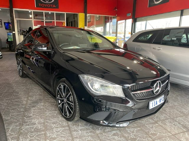 Used Mercedes-Benz CLA-Class C117 807MY CLA200 DCT, 2016 Mercedes-Benz CLA-Class C117 807MY CLA200 DCT Black 7 Speed Sports Automatic Dual Clutch Coupe