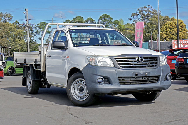 Used Toyota Hilux TGN16R MY14 Workmate 4x2, 2014 Toyota Hilux TGN16R MY14 Workmate 4x2 White 4 Speed Automatic Cab Chassis