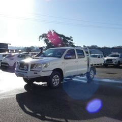 2011 Toyota Hilux KUN26R MY12 SR Double Cab White 4 Speed Automatic Utility.